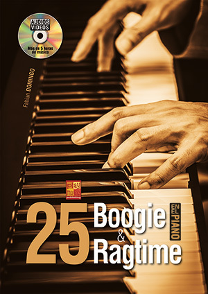 25 Boogie e Ragtime en el piano Fabian Domingo BOOK+DVD - Piano